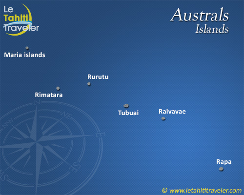 Australs islands map