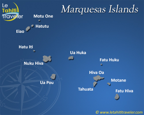 Marquesas islands map